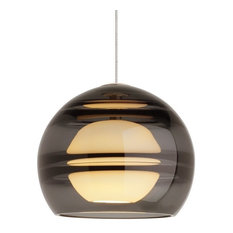 Tech Sedona 6 in. LED 3000K Smoke Low-Volt MonoRail Pendant in Aged Brass