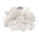 Modern Ceiling Lamp Chrome 70cm with White Leaves - Feder