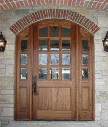arch top mahogany doors front doors