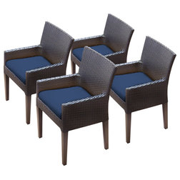Tropical Outdoor Dining Chairs by Burroughs Hardwoods Inc.