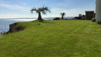 三浦海岸 海を見渡す庭