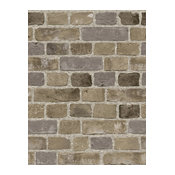 SF084795 Faux Brick Grey Wallpaper