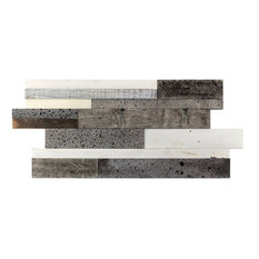 "Timber 11.81""x23.62"" Wood Mosaic Tile,"