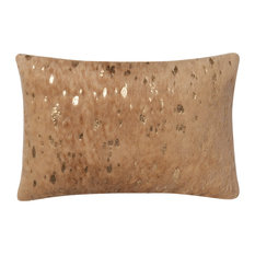 Loloi Transitional Acrylic Pillow Cover, Tan and Gold, 13  x21