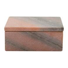 Oblong Marble Box, Large, Rose