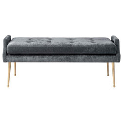 Midcentury Upholstered Benches by TOV Furniture