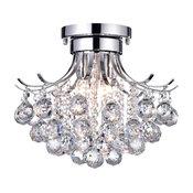 Clarus 3-Light Chrome Crystal Flush Mount Chandelier Ceiling Light Fixture