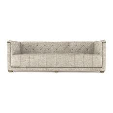 Hudson 8' Crushed Velvet Sofa Oyster