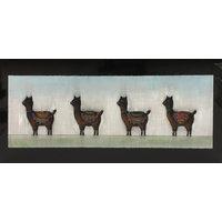 "Modrest 55""x28"" Alpaca Oil Painting"