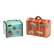 Luggage Salt and Pepper Shakers, Set of 2