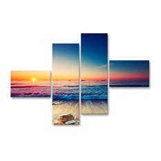 Blue Sky 4-Piece Modern Wall Art, 96x66 cm
