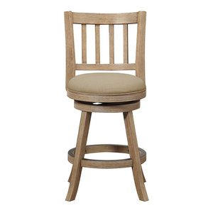Sheldon Counter Stool, Driftwood Wire-Brush and Oatmeal