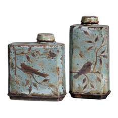 Uttermost Freya Containers, Skye Blue, Set of 2