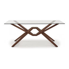 """Exeter Glass Top Table, 42""""x72""""x30"""""""
