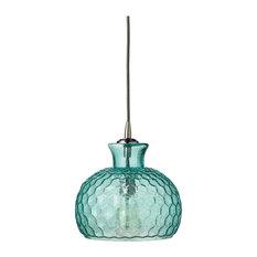 Clark Pendant, Aqua Glass