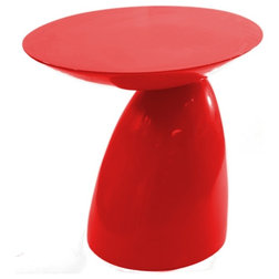 Nice Contemporary Side Tables And End Tables Oval End Side Table Red