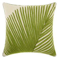 Royal Palm Palm Frond Throw Pillow, Green