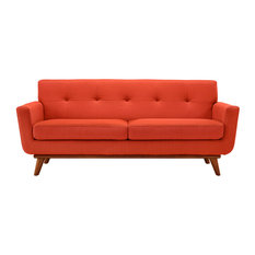 Engage Upholstered Fabric Loveseat, Atomic Red