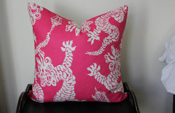 Tail Lights, Daiquiri Lilly Pulitzer for Lee Jofa Cushion Cover by Aurelia