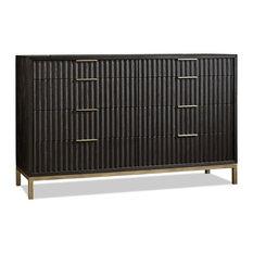 Apt2B - Westmont Dresser, Black / Brushed Steel - Dressers