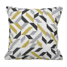 Modern Abstract  Feather Filled Decorative Throw Pillow Cushion, 20X20
