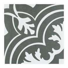 """SomerTile 7.75""""x7.75"""" Twenties Ceramic Floor and Wall Tile, Classic, Case of 25"""