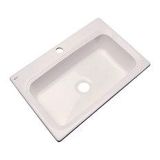 Clemente 1-Hole Kitchen Sink, Almond