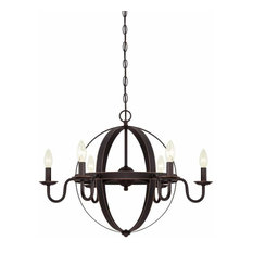 50 most popular oil rubbed bronze chandeliers for 2018 houzz westinghouse westinghouse 6303300 brixton 6 light candle style chandelier chandeliers aloadofball Images