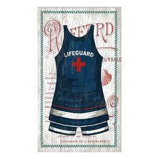 "Swimsuit #3 Vintage Wooden Sign, 15""x26"""