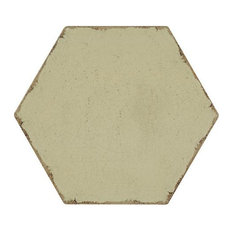 Annie Selke Farmhouse Hex Sage Green Porcelain Wall and Floor Tile 8 x 8 in.