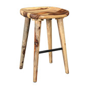 Solid Sheesham Wood Counter Stool, Natural