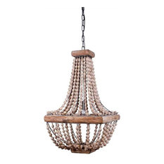 Wood beaded chandeliers houzz creative co op boone square single bulb metal chandelier with wood beads chandeliers aloadofball Gallery