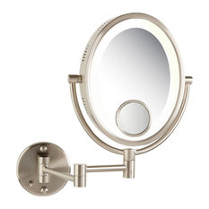 Most popular wall mounted lighted makeup mirrors for 2018 houzz see all industries modern nickel wall mounted lighted make up mirror hard wire aloadofball Choice Image