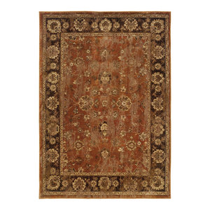 "Colette Oriental Orange and Brown Rug, 5'3""x7'6"""