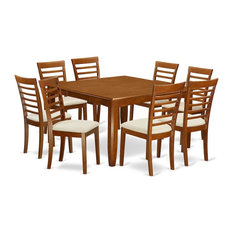 9-Piece Formal Dining Room Set Dinette Table With Leaf And 8 Kitchen Chairs