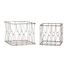 Collapsible Square Basket, Set of 2