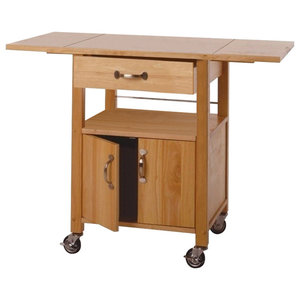 Winsome Wood Kitchen Cart Double Drop