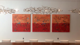 """48x144"""" Triptych Commission Painting for Emerson"""