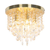 Art Deco Ceiling Lamp 30cm Brass with Crystal Beads - Medusa