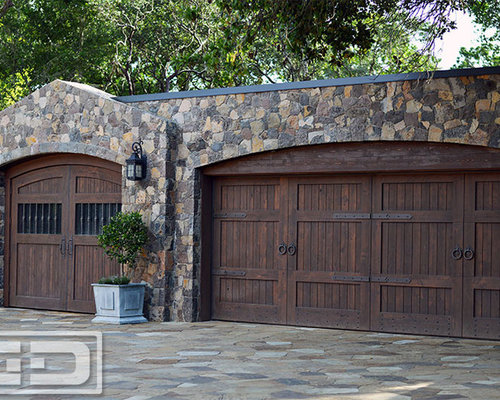 Best rustic carport design ideas remodel pictures houzz for Rustic wood garage doors