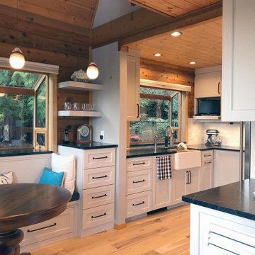 Modern Farmhouse Kitchen in a Log Home