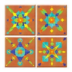 Fiesta Peel and Stick Tile, 4-Piece Set