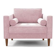 Delilah Chair, Blush Velvet