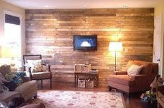 Laminate Flooring On Walls added laminate flooring to bedroom wall to give the room a distressed barn wood accent Something Along The Lines Of These Two Walls Looking For More Of A Wood Texture But I Also Havent Considered Wall Paper For It Either