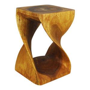Haussmann® Original Wood Twist Stool 12 X 12 X 18 In High Oak Oil