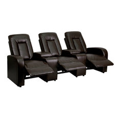 Bonded Leather Recliner, Brown