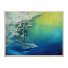 """Josh Serafin """"September High"""" Blue Green Naturals Canvas, 11""""x14"""""""