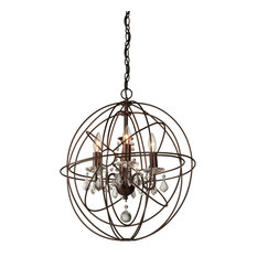 Carnaby Street 4-Light Bronze Chandelier