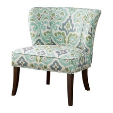 Hilton Armless Accent Chair, Blue-Green