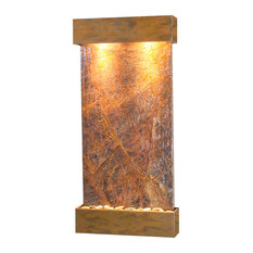 Whispering Creek Water Feature, Brown Marble, Rustic Copper